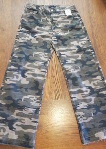 Sanctuary Raw Hem  Camouflage Jeans